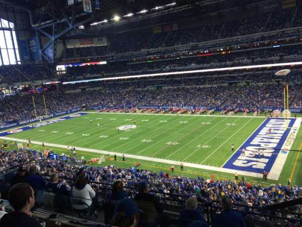 Lucas Oil Stadium, section: 435, rangée: 3, siège: 1