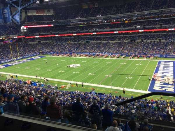 Lucas Oil Stadium, section: 436, rangée: 3, siège: 1