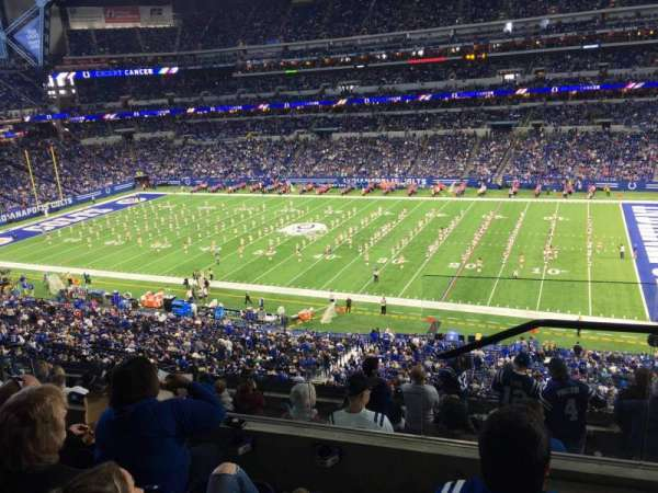 Lucas Oil Stadium, section: 437, rangée: 4, siège: 1