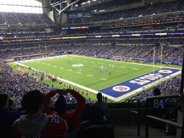Lucas Oil Stadium, section: 306, rangée: 5, siège: 1