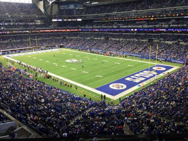 Lucas Oil Stadium, section: 406, rangée: 1, siège: 1