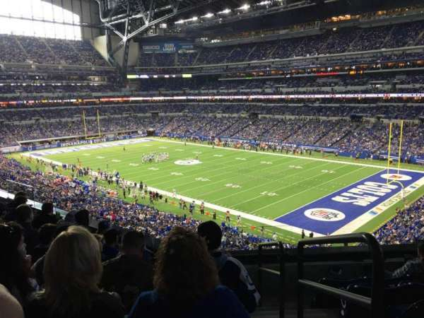 Lucas Oil Stadium, section: 307, rangée: 5, siège: 1