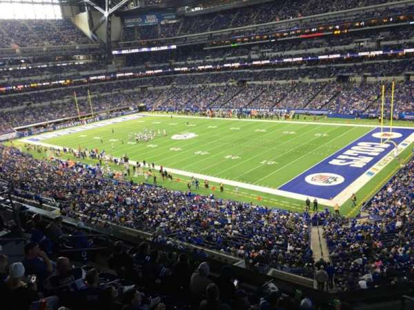 Lucas Oil Stadium, section: 407, rangée: 2, siège: 1
