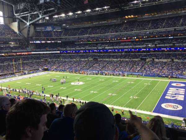 Lucas Oil Stadium, section: 309, rangée: 5, siège: 1