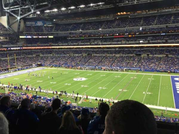 Lucas Oil Stadium, section: 310, rangée: 5, siège: 1