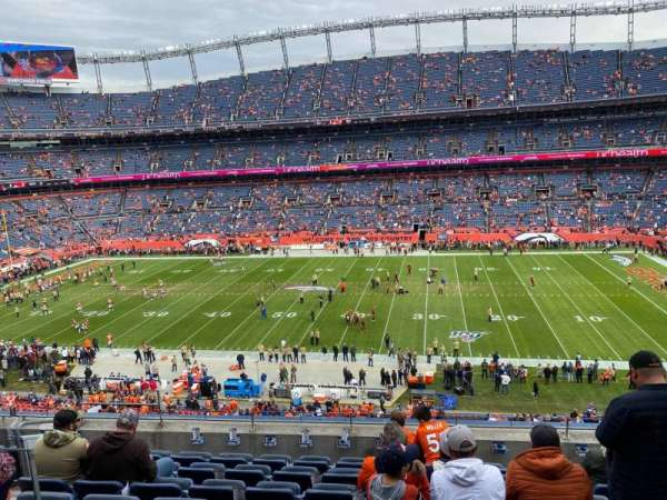Empower Field at Mile High Stadium, section: 307, rangée: 8, siège: 7