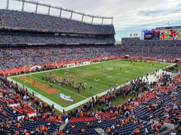 Empower Field at Mile High Stadium, section: 317, rangée: 2, siège: 14
