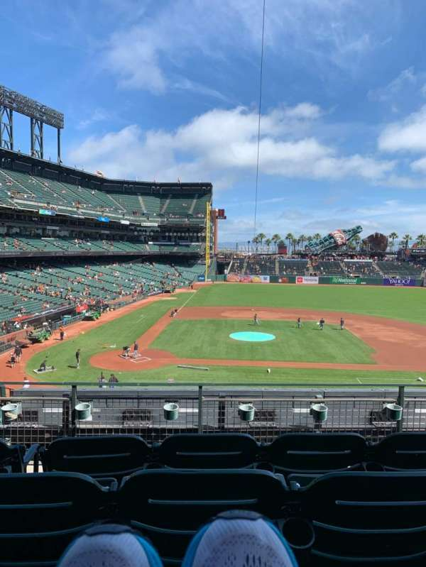 Oracle Park, section: 210, rangée: D, siège: 5