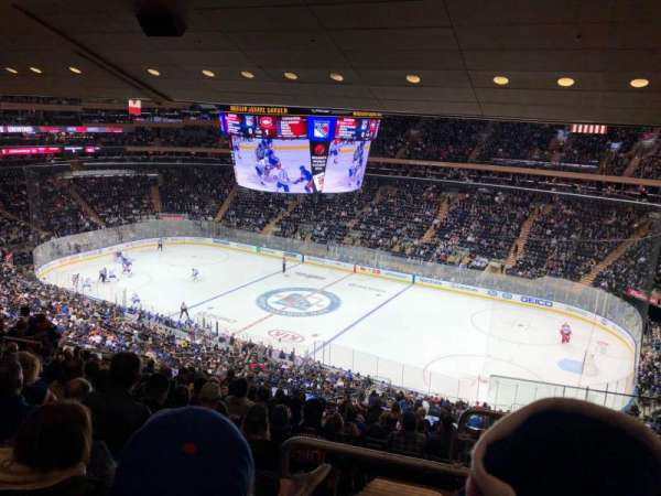 Madison Square Garden, section: 213, rangée: 14, siège: 22