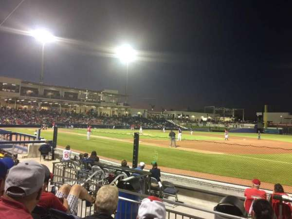 FITTEAM Ballpark of the Palm Beaches, section: 117, rangée: J, siège: 12