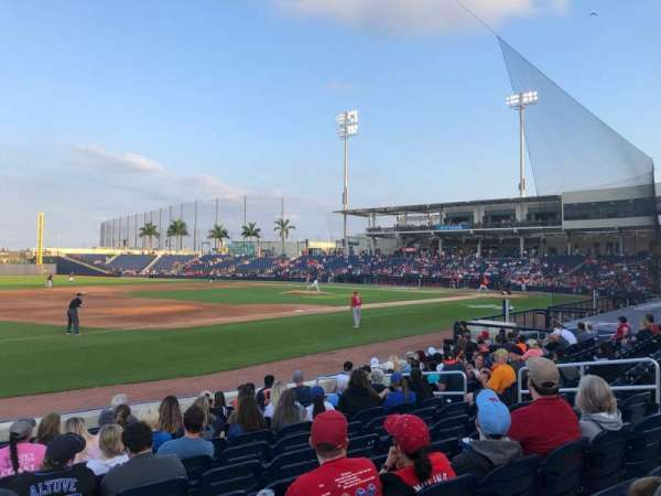 FITTEAM Ballpark of the Palm Beaches, section: 101, rangée: M, siège: 1