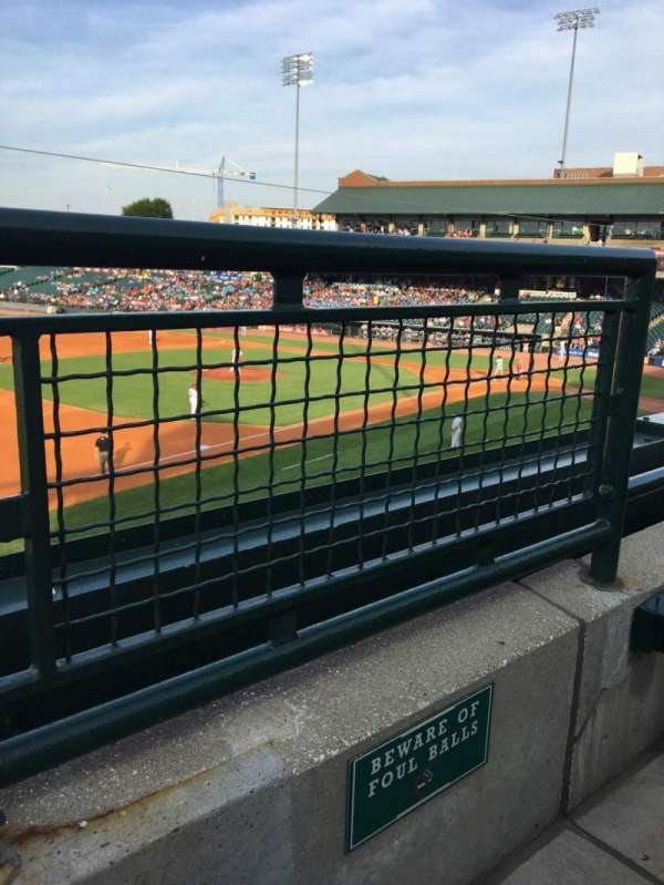 Louisville Slugger Field, section: 223, rangée: A, siège: 1