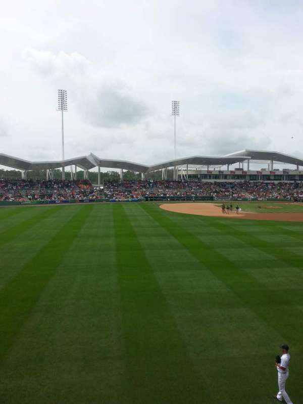JetBlue Park, section: Monster 7, rangée: 1