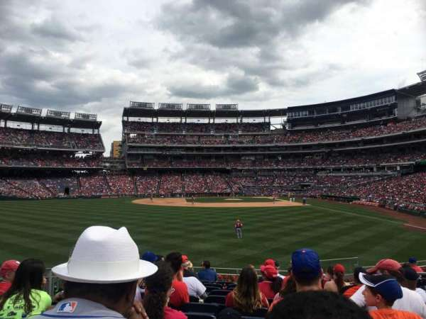 Nationals Park, section: 103, rangée: M
