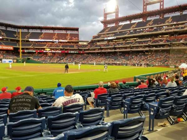 Citizens Bank Park, section: 135, rangée: 10, siège: 3