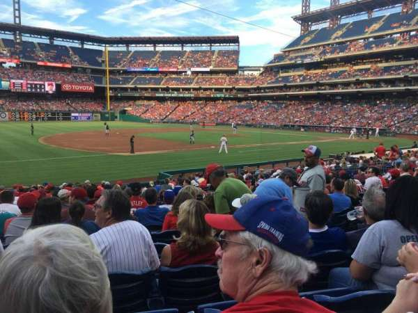 Citizens Bank Park, section: 134, rangée: 20, siège: 6