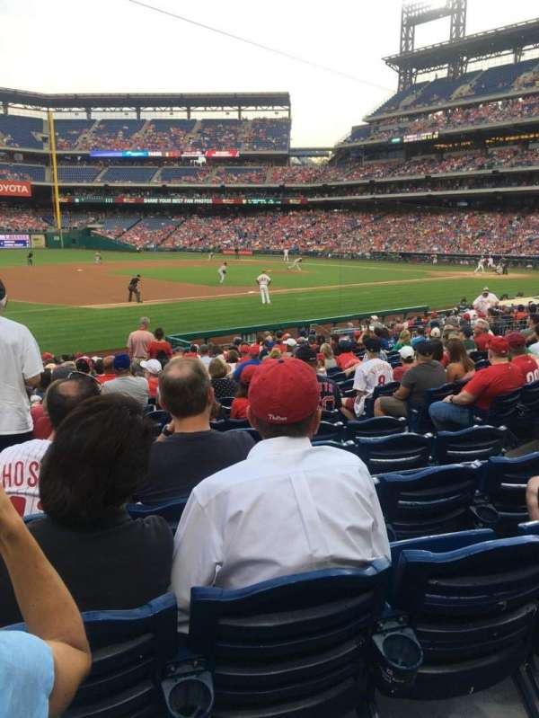 Citizens Bank Park, section: 134, rangée: 20, siège: 7