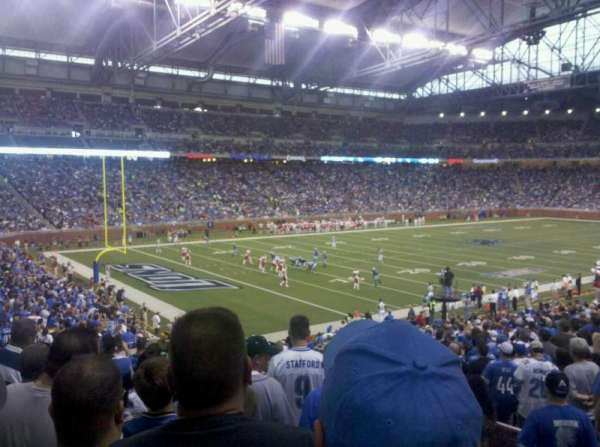 Ford Field, section: 100, rangée: 29, siège: 18