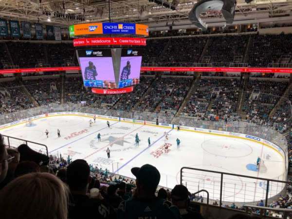 SAP Center at San Jose, section: 227, rangée: 8, siège: 7
