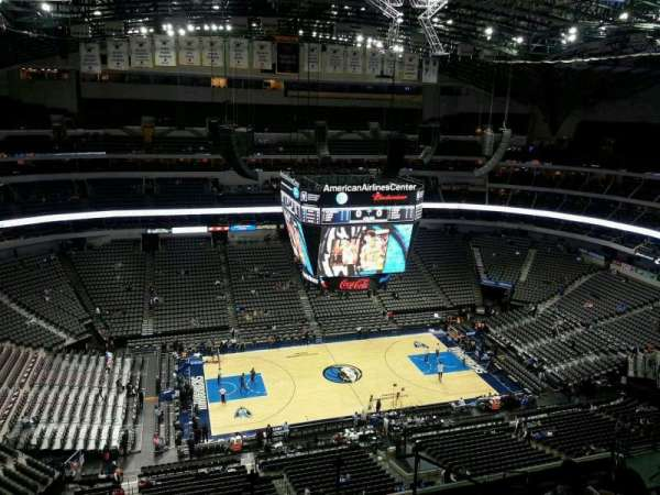 American Airlines Center, section: 328, rangée: M, siège: 3