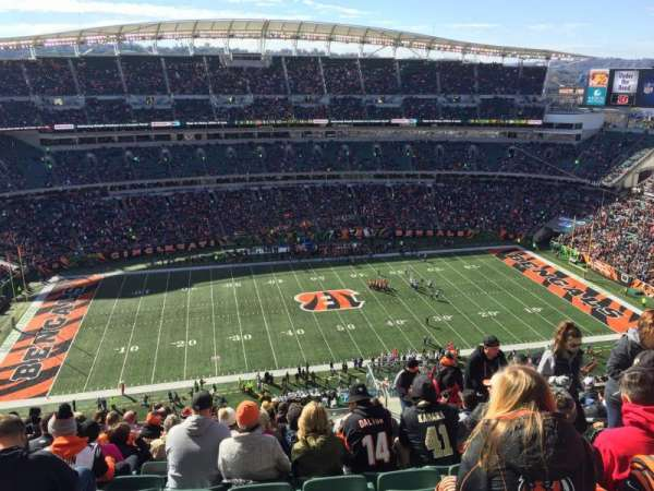 Paul Brown Stadium, section: 342, rangée: 25, siège: 5