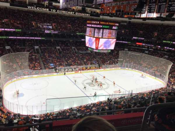 Wells Fargo Center, section: 210A, rangée: 9, siège: 16