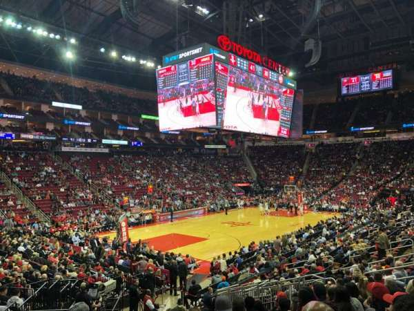 Toyota Center, section: 111, rangée: 24, siège: 14