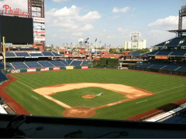 Citizens Bank Park, section: Press Box