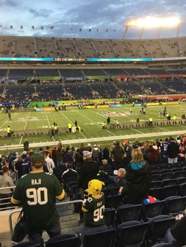 Camping World Stadium, section: 135, rangée: U, siège: 26