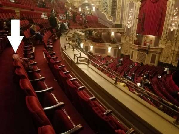 Nederlander Theatre (Chicago), section: LOGE-R, rangée: B, siège: 360