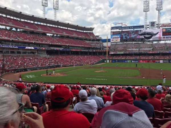 Great American Ball Park, section: 130, rangée: EE