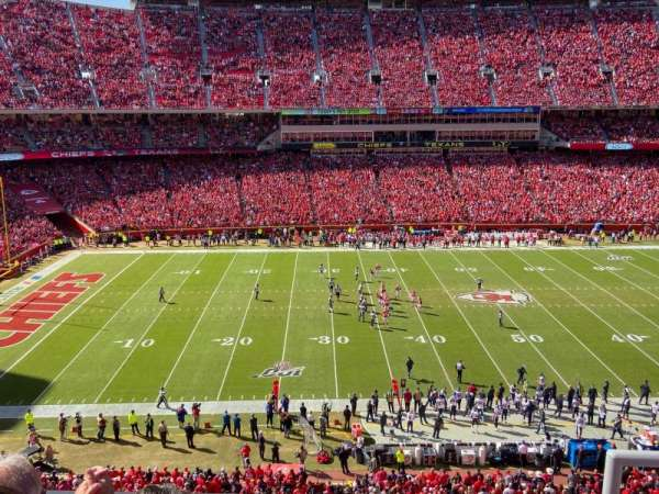 Arrowhead Stadium, section: 303, rangée: 3, siège: 2