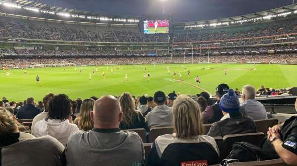 Melbourne Cricket Ground, section: M28, rangée: X, siège: 17