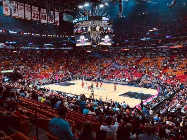 American Airlines Arena, section: 116, rangée: 23, siège: 9