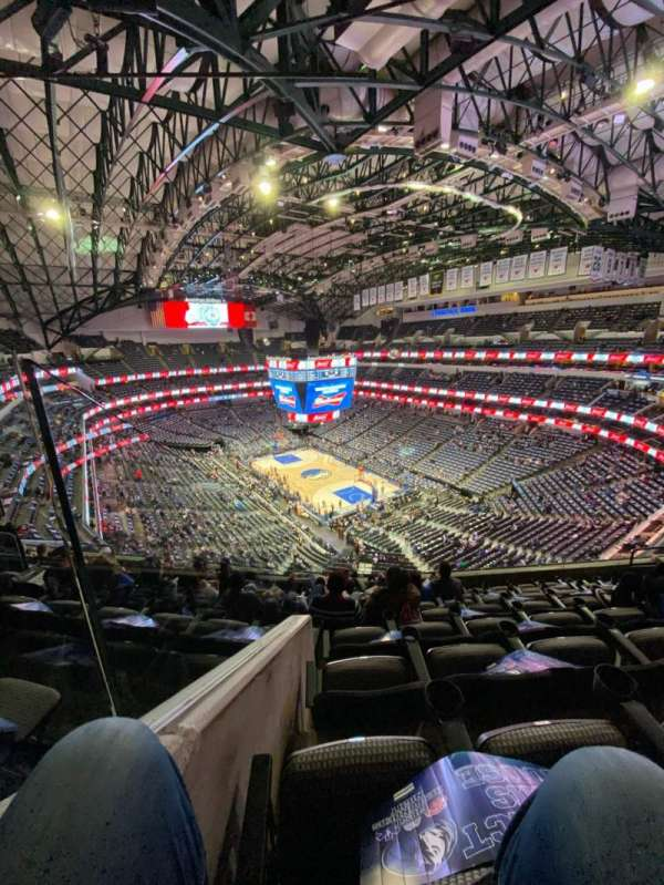 American Airlines Center, section: 321, rangée: H, siège: 11