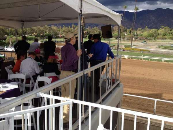 Santa Anita Park, section: Trackside Marquee
