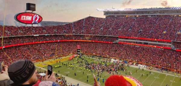 Arrowhead Stadium, section: 344, rangée: 23, siège: 1
