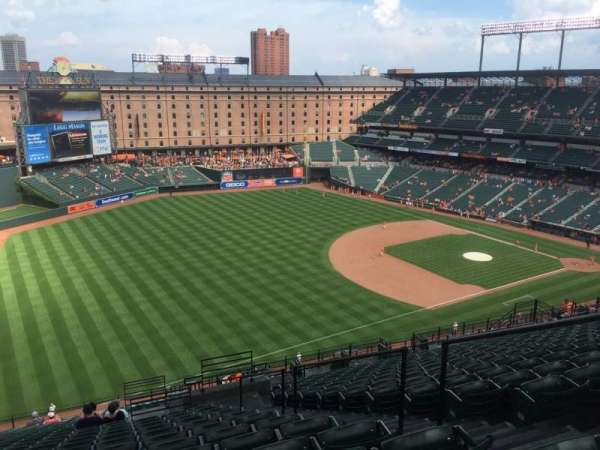 Oriole Park at Camden Yards, section: 368, rangée: 25, siège: 5