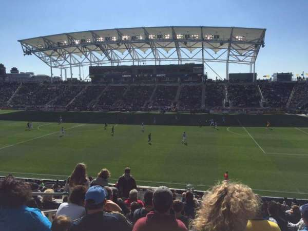 Talen Energy Stadium, section: 124, rangée: X, siège: 16