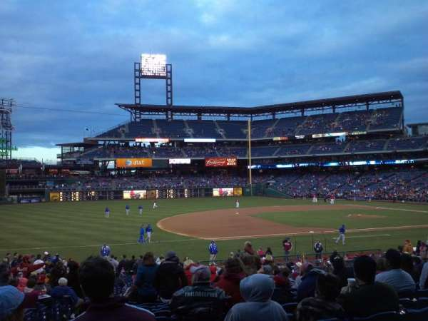 Citizens Bank Park, section: 133, rangée: 30, siège: 15