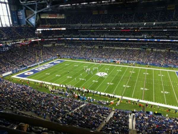 Lucas Oil Stadium, section: 538, rangée: 5w, siège: 1