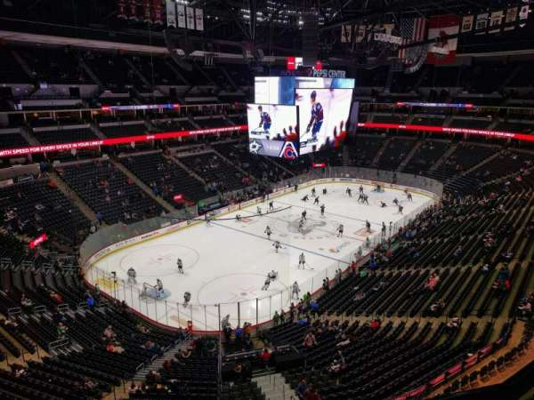 Pepsi Center, section: 354, rangée: 4, siège: 3