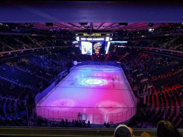 Madison Square Garden, section: 416, rangée: 3, siège: 10