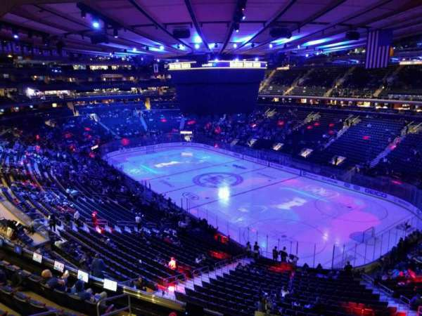 Madison Square Garden, section: 413, rangée: 1, siège: 1