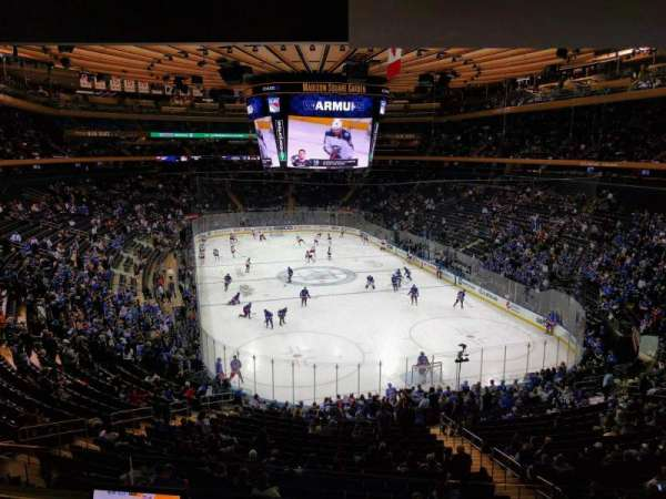 Madison Square Garden, section: 203, rangée: 3, siège: 6