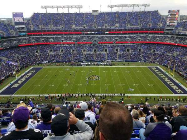 M&T Bank Stadium, section: 553, rangée: 21, siège: 20