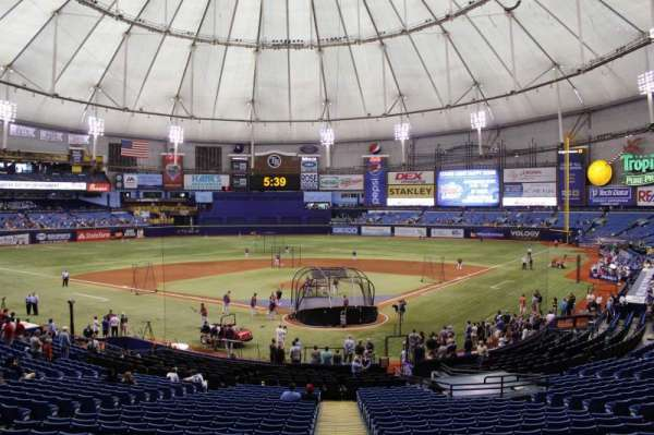 Tropicana Field, section: 103, rangée: gg, siège: 3