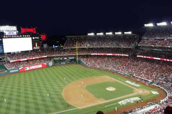 Nationals Park, section: 405, rangée: e, siège: 6