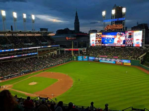 Progressive Field, section: 529, rangée: P, siège: 8