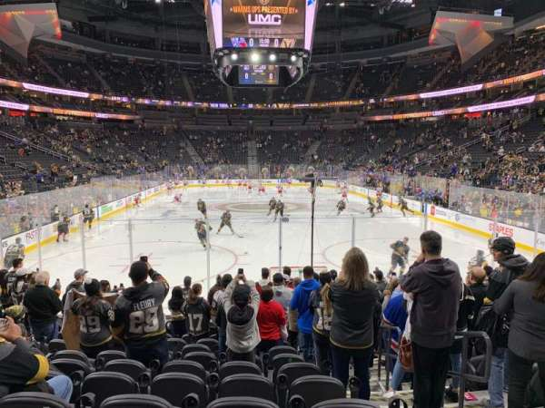 T-Mobile Arena, section: 20, rangée: K